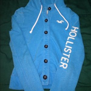 Button up Hollister hoodie.